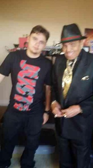 prince jackson with his grandfather joe jackson