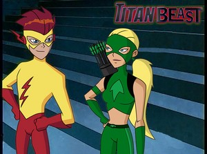 teen titans Wally and artemis