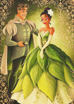 The Princess and the Frog wallpaper with a bridesmaid, a gown, and a makan malam dress titled the princess and the frog