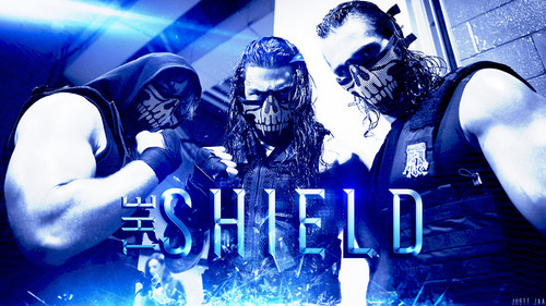 WWE kertas dinding possibly containing a sign called the shield