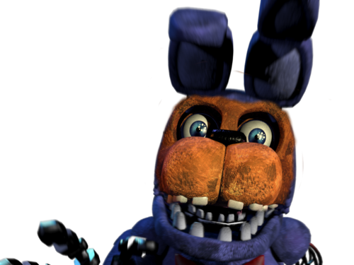 Five Nights at Freddy's 壁紙 possibly containing a totem pole entitled withered bonnie and witherd freddy mashup