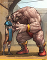 Chun Li and Zangief