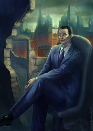 Half Life wallpaper containing a business suit, a suit, and a well dressed person entitled           G-Man