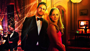 Stephen Amell and Emily Bett Rickards Обои