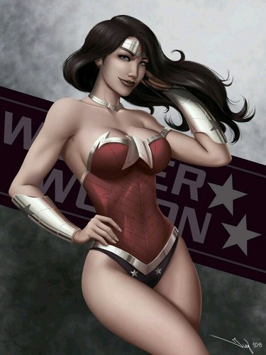 Wonder Woman wallpaper possibly containing a bustier, a leotard, and a swimsuit entitled                       Wonder Woman