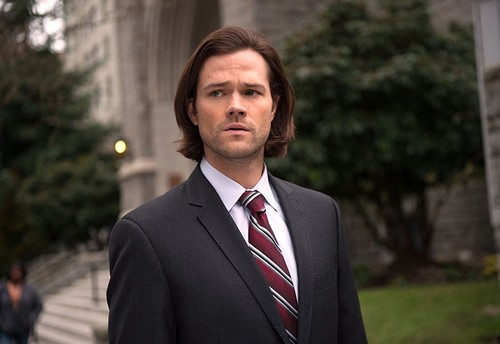Sam Winchester wallpaper with a business suit and a suit called 10x16 PAINT IT BLACK