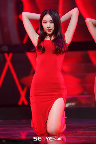 Nine Muses fondo de pantalla possibly containing a leotard and tights entitled 150305 Nine Muses - Erin Coming of Age (M! Countdown Special Stage)