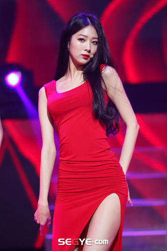 Nine Muses Обои possibly with a leotard and a бюстье called 150305 Nine Muses - Minha Coming of Age (M! Countdown Special Stage)