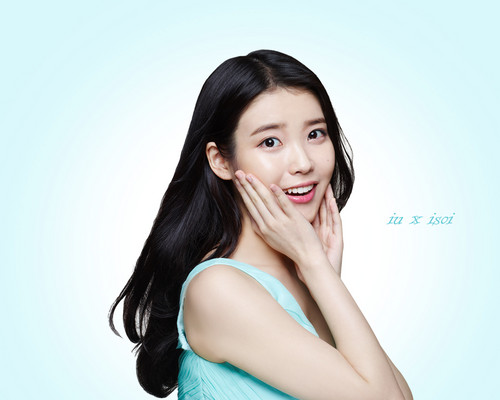iu wallpaper with a portrait titled 150312 ‪‎IU‬ for 아이소이 ‪isoi‬ official wallpaper for PC and mobile devices