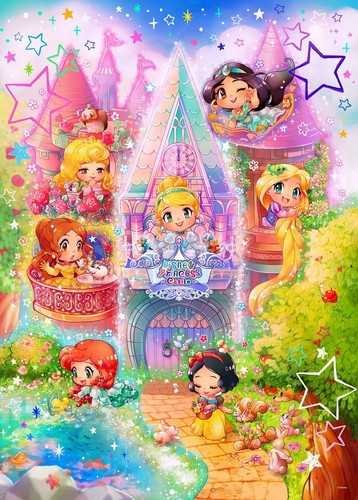 Disney Princess achtergrond called Adorable Chibi Princesses