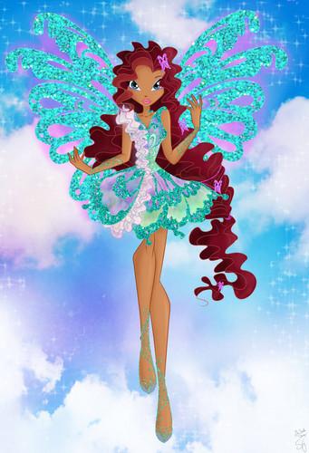 The Winx Club پیپر وال titled Aisha Butterflyix