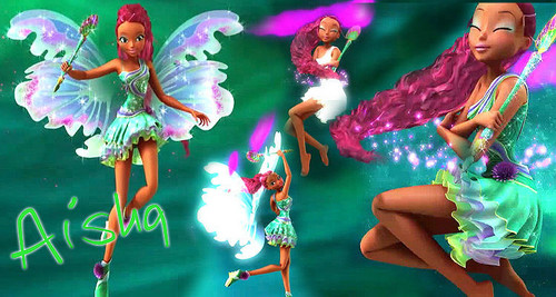 The Winx Club پیپر وال probably containing a bouquet titled Aisha Mythix