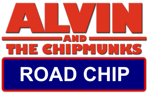 Alvin and the Chipmunks wallpaper possibly containing anime titled Alvin and the Chipmunks 4 Road Chip Logo