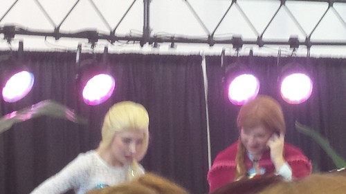 Disney Princess kertas dinding probably with a konsert called Anna and Elsa Model I saw today.