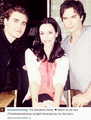 Annie Wersching, Paul Wesley and Ian Somerhalder    - the-vampire-diaries-tv-show photo