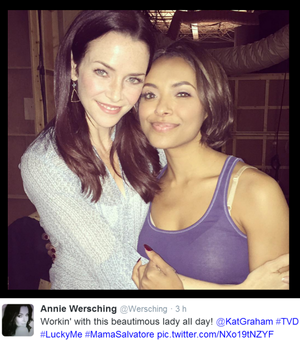 Annie Wersching and Kat Graham