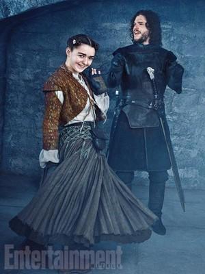 Arya Stark and Jon Snow Season 5