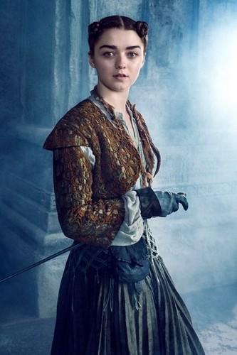 艾莉亚·史塔克 壁纸 possibly with a 波兰舞曲, 波兰语 and a kirtle, 长裙 titled Arya Stark