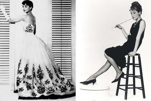 연기 바탕화면 probably containing a 공식 만찬, 저녁 식사 dress called Audrey Hepburn