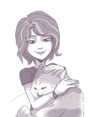 Aunt Cass and Mochi