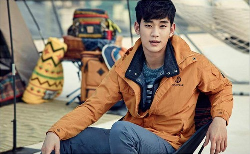 Kim SooHyun wallpaper probably with a rua called BEANPOLE OUTDOOR S/S 2015 Lookbook Feat. Kim Soo Hyun