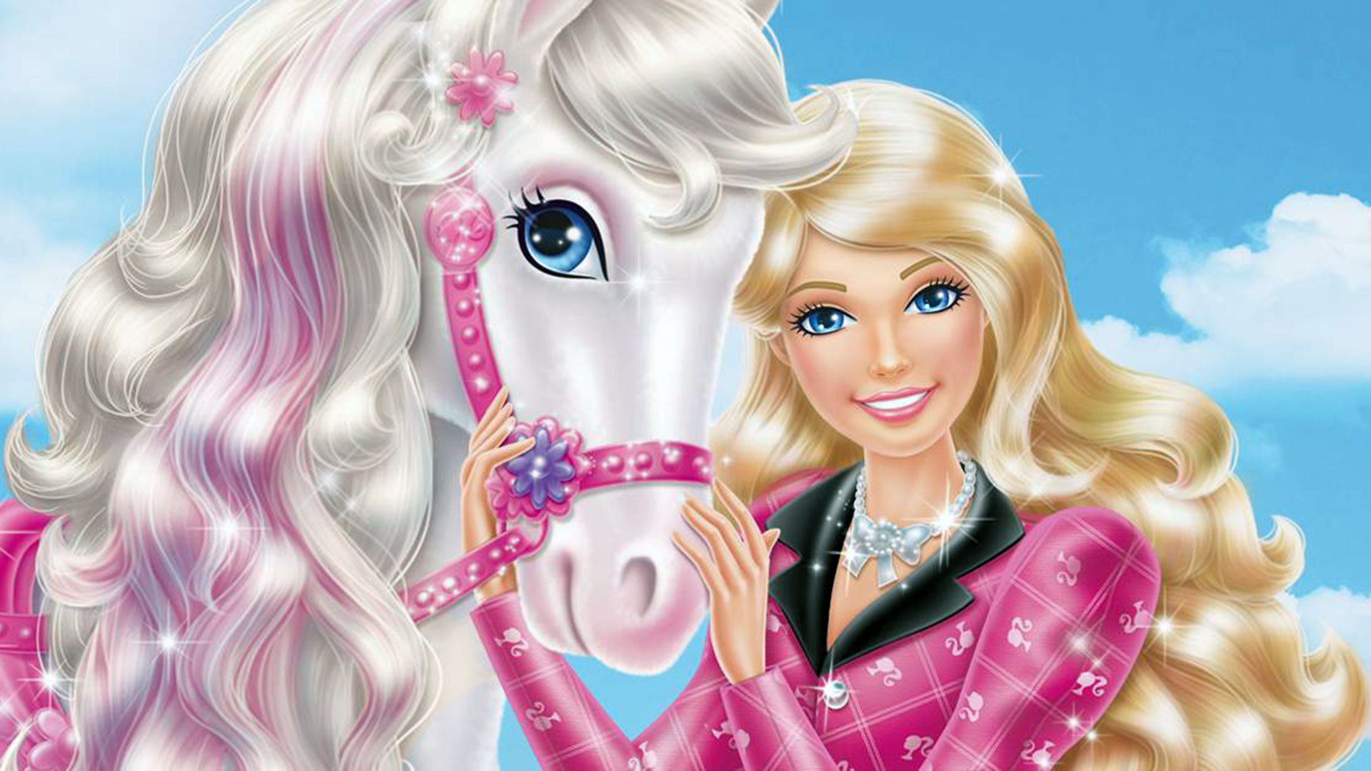 Newly Released Barbie Film Wallpaper Possibly Containing A Portrait Titled Barbie And Her Sisters In A
