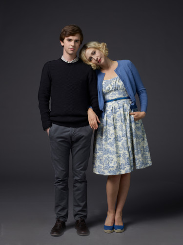 Bates Motel fondo de pantalla possibly containing a well dressed person titled Bates Motel Season 3 Norman and Norma Bates Official Pictures