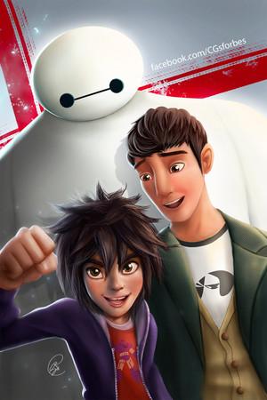 Baymax, Hiro and Tadashi