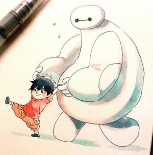Baymax and Baby Hiro