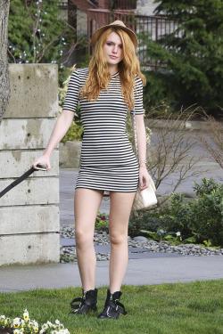 Bella Thorne walking her dog in LA 03/02/15.