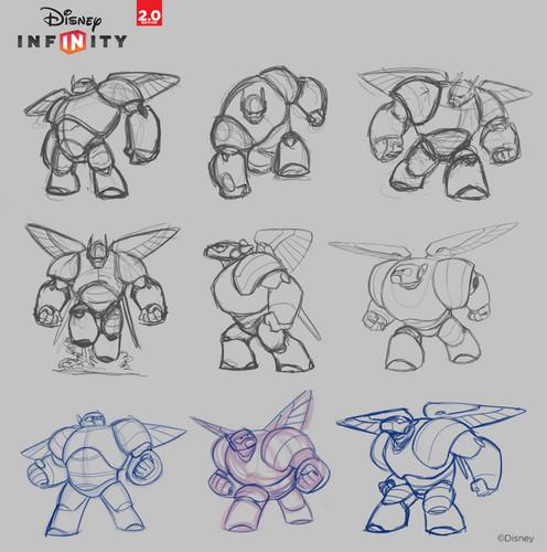 Big Hero 6 fond d'écran possibly containing animé titled Big Hero 6 - Disney Infinity Concept Art