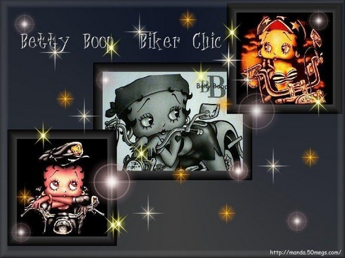 Betty Boop wallpaper with anime titled Biker boop