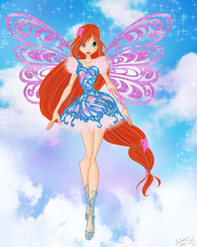 the winx club wallpaper titled Bloom Butterflyix
