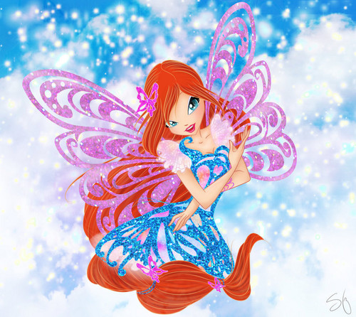Winx Club fond d'écran titled Bloom Butterflyix