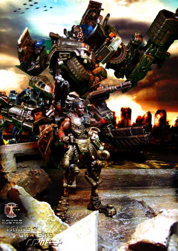 Transformers karatasi la kupamba ukuta titled Calvin's Custom 1:18 G.I.Joe X Transformers
