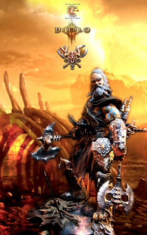 Calvin's Custom 1:6 Diablo 3 Monk, Barbarian