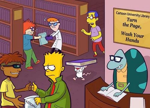 hoạt hình hình nền containing anime entitled Cartoon trường đại học