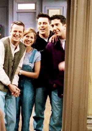 Chandler, Rachel, Joey and Ross