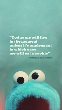 Quotes wallpaper titled Cookie Monster