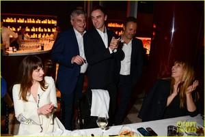 Dakota Johnson keeps it chic in white while attending the private Christian Dior ডিনার