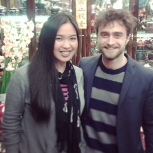 Daniel Radcliffe With a 팬 At Hong Kong (Fb.com/DanieljacobRadcliffeFanClub)