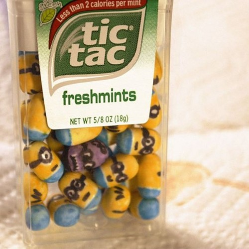 Ich, unverbesserlich Hintergrund probably containing a canned meat entitled Despicable me tictacs!