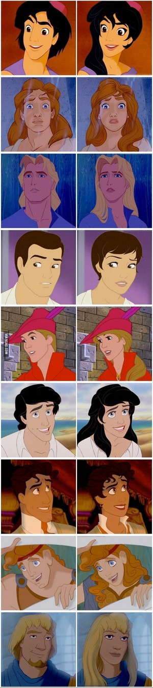 disney Princes Gender Switch