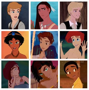 disney Princesses gender switch