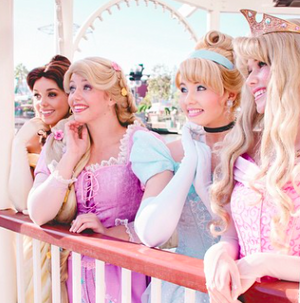 disney Princesses on Balcony