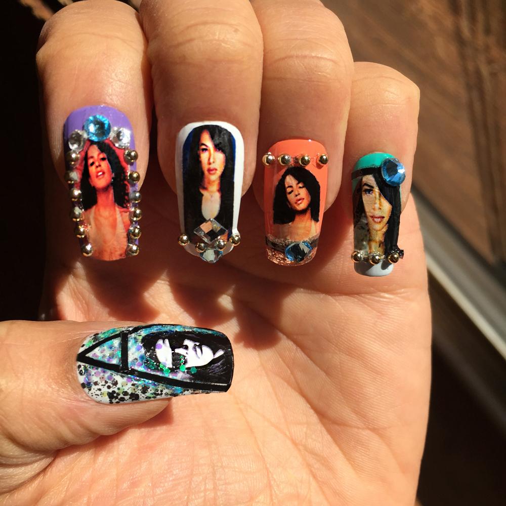 Dope Aaliyah Nails