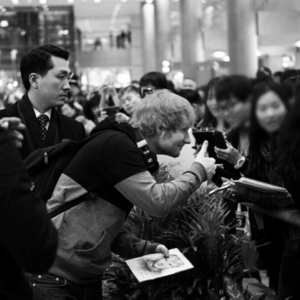 Ed at the airport in Seoul