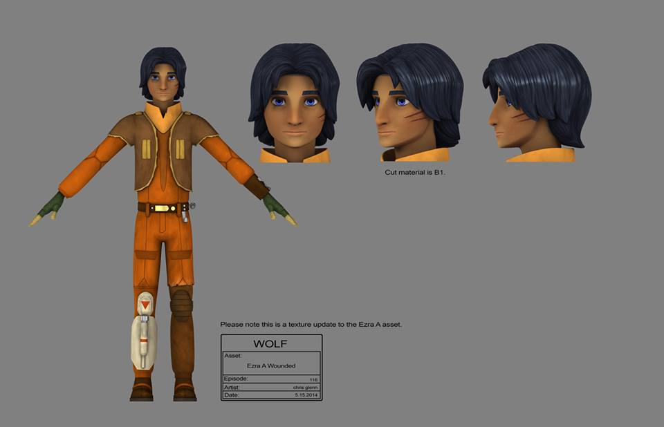 Star Wars Rebels Images Ezra With Scar Concept Art Hd Wallpaper And