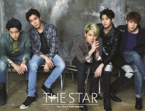 F.T. Island پیپر وال probably with a business suit, a well dressed person, and a گاڑی گزر سڑک, کآرریاگیوی titled F.T Island for 'The Star'