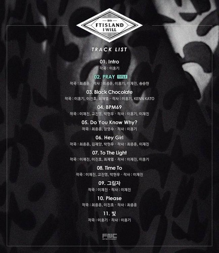 F.T. Island wallpaper probably with a sign titled F.T Island say 'I Will' release the track list now for the fans